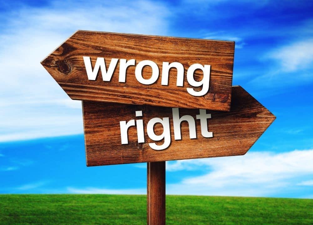 Read more about the article Richtig versus Falsch – ein irriges Konzept